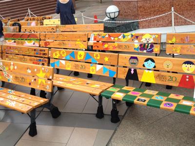 いろんなベンチが出来ました。