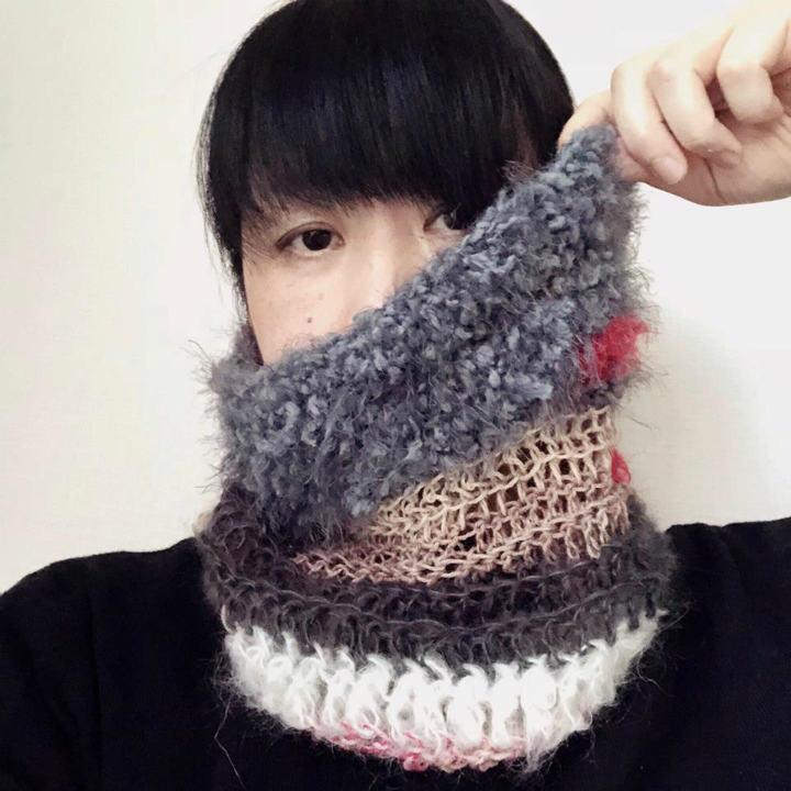 自由編みを愉しむ!~この冬に間に合う、ネックウォーマー~