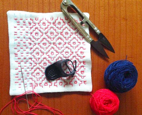 東北の伝統針しごと「一目刺し」で飾る生活の布