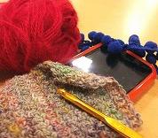 みんなの図工室08 ~ほっこり毛糸で編むポーチ~