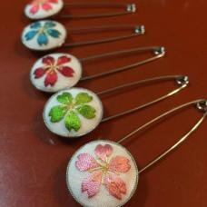 はじめての日本刺繍~桜のピンブローチづくり