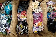 思い出の服を蘇らせよう! 裂き布でつくる夏のコサージュ